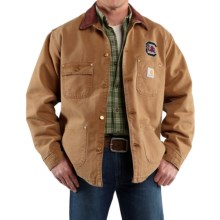 Carhartt Weathered Cotton Duck Chore Coat - College Logo (For Men) in Carhartt Brown South Carolina - 2nds