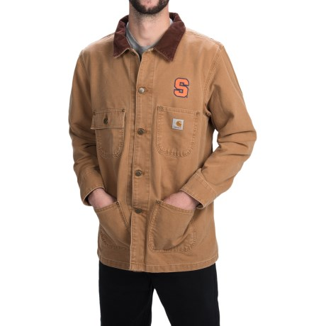 Carhartt Weathered Cotton Duck Chore Coat College Logo For Men