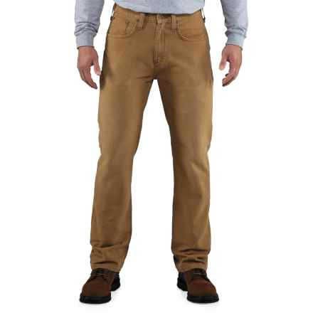 Carhartt Weathered Duck 5-Pocket Pants (For Men) in Carhartt Brown - 2nds
