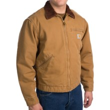 Carhartt Weathered Duck Detroit Jacket - Blanket-Lined (For Men) in Carhartt Brown - 2nds