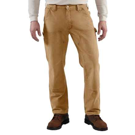 Carhartt Weathered Duck Dungaree Jeans - Double Front, Factory Seconds (For Men) in Carhartt Brown - 2nds