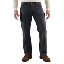 Carhartt Weathered Duck Jeans - Dungarees, Double Front (For Men) in Black - 2nds