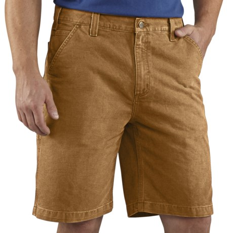 Carhartt Weathered Duck Work Shorts (For Men) in Carhartt Brown