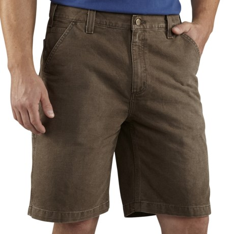 Carhartt Weathered Duck Work Shorts (For Men) in Dark Coffee