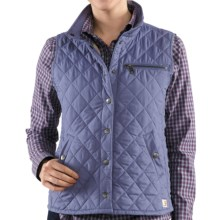 Carhartt Wellington Vest - Insulated (For Women) in Blue Dusk - Closeouts