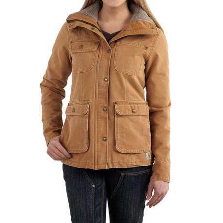 Carhartt Wesley Coat - Cotton, Factory Seconds (For Women) in Carhartt Brown