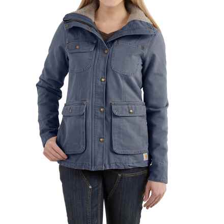 Carhartt Wesley Coat - Cotton, Factory Seconds (For Women) in Hudson Blue - 2nds