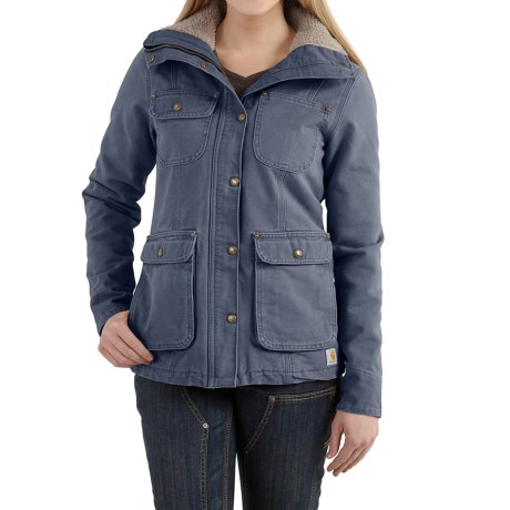 Carhartt Wesley Coat - Cotton, Factory Seconds (For Women) in Hudson Blue