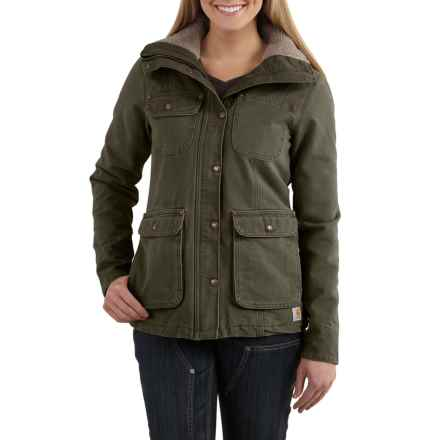 Carhartt Wesley Coat - Cotton, Factory Seconds (For Women) in Woodland - 2nds