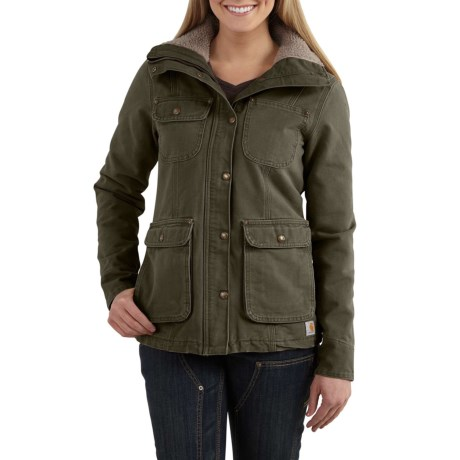 Carhartt Wesley Coat - Cotton, Factory Seconds (For Women) in Woodland