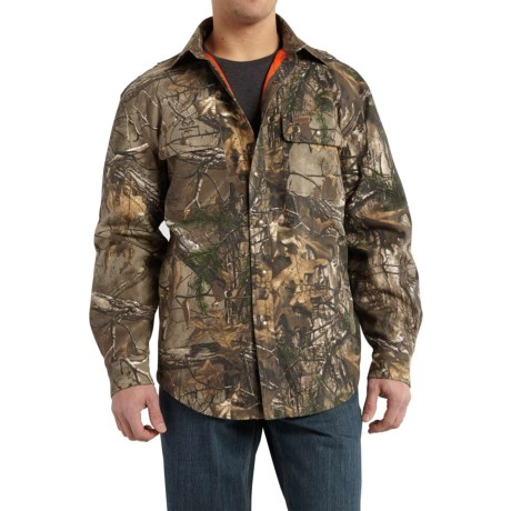Carhartt Wexford Camo Shirt Jacket - Factory Seconds (For Big and Tall Men) in Realtree Xtra