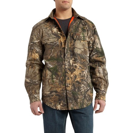 48b9c02583dd9 Carhartt Wexford Camo Shirt Jacket (For Men) in Realtree Xtra - Closeouts