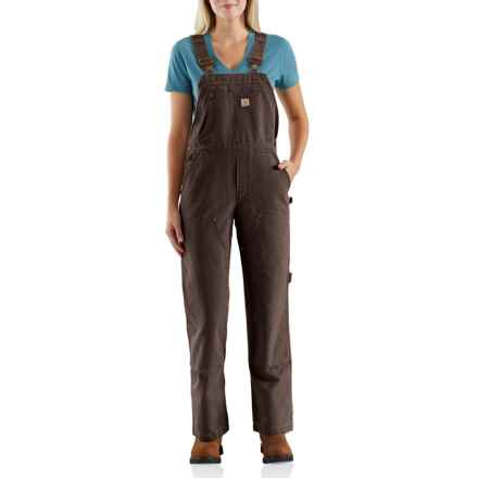 Carhartt Wildwood Unlined Bib Overalls - Factory 2nds (For Women) in Dark Brown - 2nds