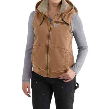 Carhartt Wildwood Weathered Duck Vest - Factory Seconds (For Women) in Carhartt Brown - 2nds