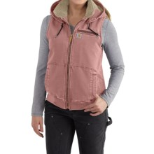 Carhartt Wildwood Weathered Duck Vest (For Women) in Dried Rose - 2nds