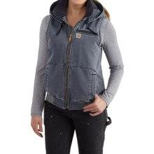 Carhartt Wildwood Weathered Duck Vest (For Women) in Hudson Blue - 2nds