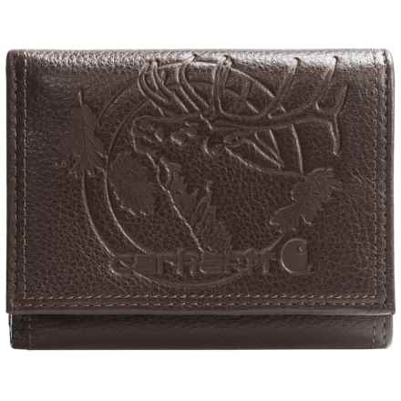 Carhartt Woodsville Traveler Tri-Fold Wallet in Brown - Closeouts