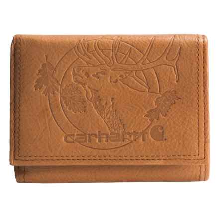Carhartt Woodsville Traveler Tri-Fold Wallet in Tan - Closeouts