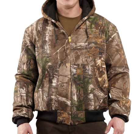 Carhartt Work Camo AP Active Jacket - Quilt Flannel Lining (For Tall Men) in Realtree Xtra - 2nds