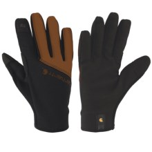 Carhartt Work Flex Touch Gloves - Touchscreen Compatible (For Men and Women) in Black/Brown - Closeouts