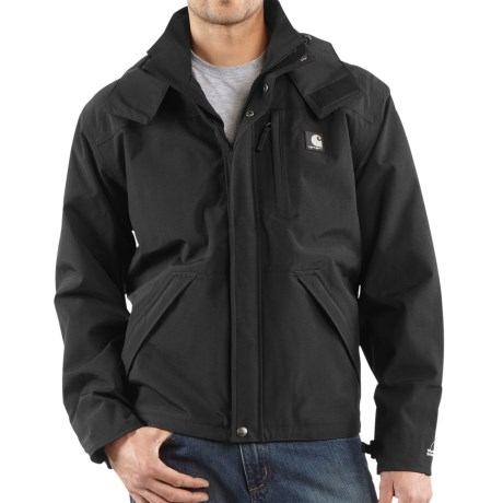 Carhartt Work Jacket - Waterproof, Factory Seconds (For Tall Men) in Black