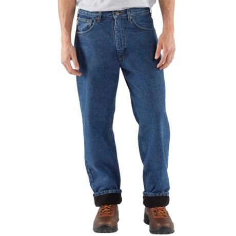 Carhartt Work Jeans - Fleece Lining (For Men) in Dark Stone Wash
