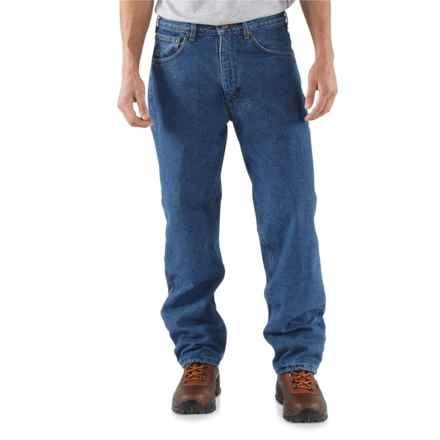 Carhartt Work Jeans - Fleece Lining (For Men) in Darkstone - 2nds