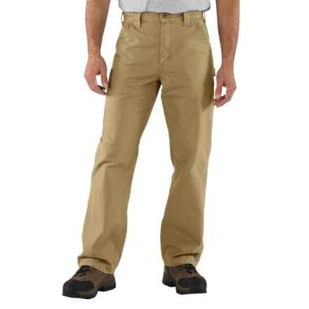 Carhartt Work Jeans - Washed Canvas, Factory Seconds (For Men) in Dark Khaki - 2nds