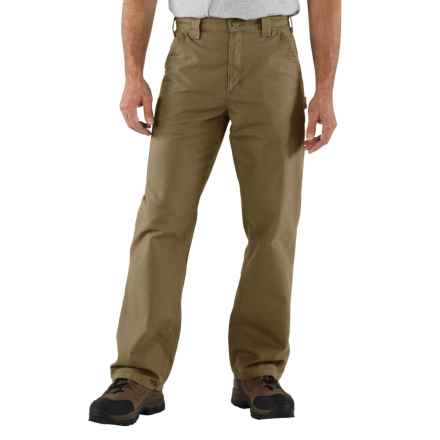 Carhartt Work Jeans - Washed Canvas, Factory Seconds (For Men) in Light Brown - 2nds