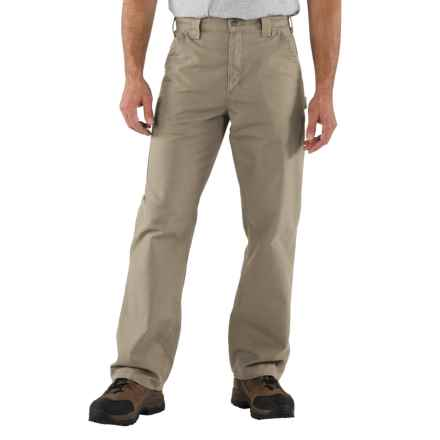 Carhartt Work Jeans - Washed Canvas, Factory Seconds (For Men) in Tan - 2nds