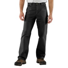 Carhartt Work Jeans - Washed Canvas (For Men) in Black - 2nds