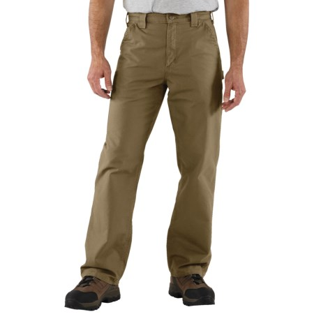 Carhartt Work Jeans - Washed Canvas (For Men) in Dark Khaki