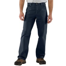 Carhartt Work Jeans - Washed Canvas (For Men) in Navy - 2nds