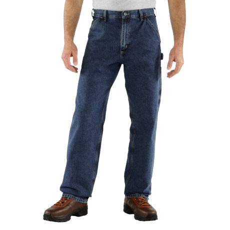 Carhartt Work Pants - Washed Denim, Factory Seconds (For Men) in Deep Stonewash