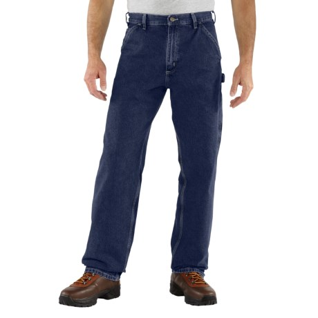Carhartt Work Pants - Washed Denim (For Men) in Heritage Dark