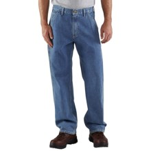 Carhartt Work Pants - Washed Denim (For Men) in Stone Wash - 2nds