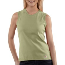 Carhartt Work Shirt - Sleeveless (For Women) in Aloe - 2nds