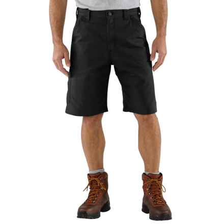Carhartt Work Shorts - 7.5 oz. Canvas (For Men) in Black - 2nds