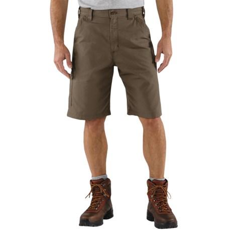 Carhartt Work Shorts - 7.5 oz. Canvas (For Men) in Tan