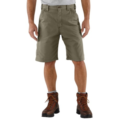 Carhartt Work Shorts - 7.5 oz. Canvas (For Men) in Loden
