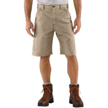 Carhartt Work Shorts - 7.5 oz. Canvas (For Men) in Tan - 2nds