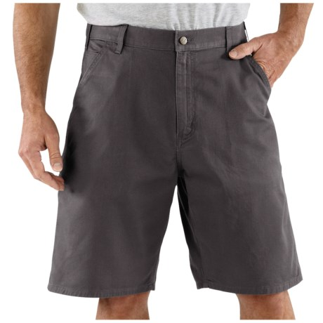 Carhartt Work Shorts - Cotton Twill (For Men) in Charcoal