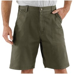 Carhartt Work Shorts - Cotton Twill (For Men) in Tan