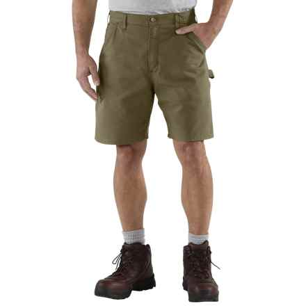 Carhartt Work Shorts - Factory Seconds (For Men) in Army Green - 2nds