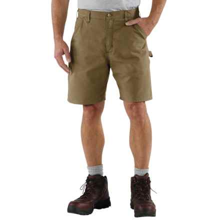 Carhartt Work Shorts - Factory Seconds (For Men) in Light Brown - 2nds