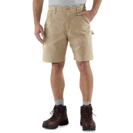 Carhartt Work Shorts - Factory Seconds (For Men) in Tan - 2nds