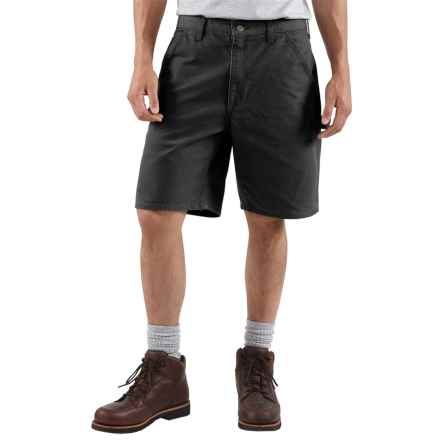 Carhartt Work Shorts - Washed Duck, Factory Seconds (For Men) in Black - 2nds