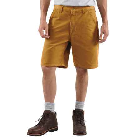 Carhartt Work Shorts - Washed Duck, Factory Seconds (For Men) in Carhartt Brown - 2nds