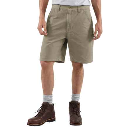 Carhartt Work Shorts - Washed Duck, Factory Seconds (For Men) in Desert - 2nds