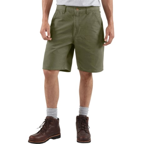 Carhartt Work Shorts - Washed Duck, Factory Seconds (For Men) in Moss